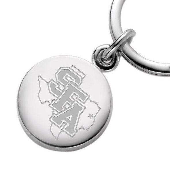 SFASU Sterling Silver Insignia Key Ring - Image 2