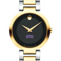 Texas Christian University Women's Movado Two-Tone Modern Classic Museum with Bracelet