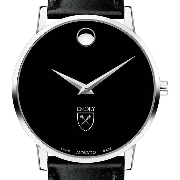 Emory University Men's Movado Museum with Leather Strap - Image 1