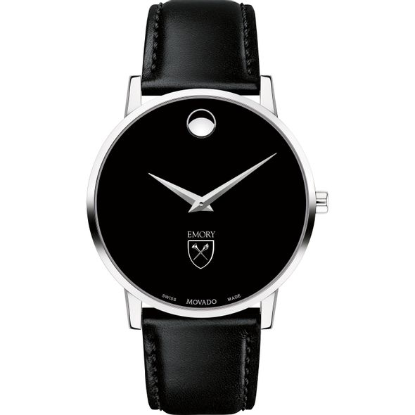 Emory University Men's Movado Museum with Leather Strap - Image 2