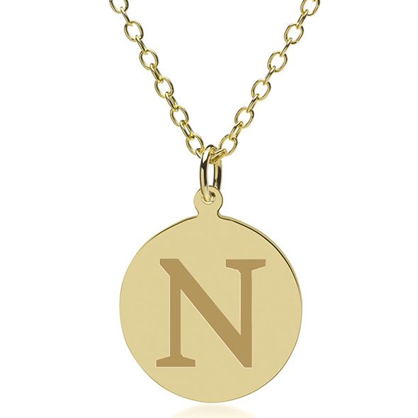 Northwestern 14K Gold Pendant & Chain - Image 1