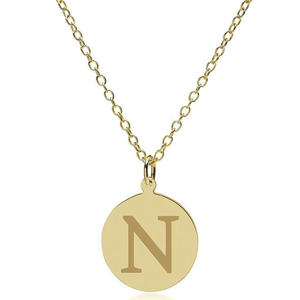 Northwestern 14K Gold Pendant & Chain - Image 2