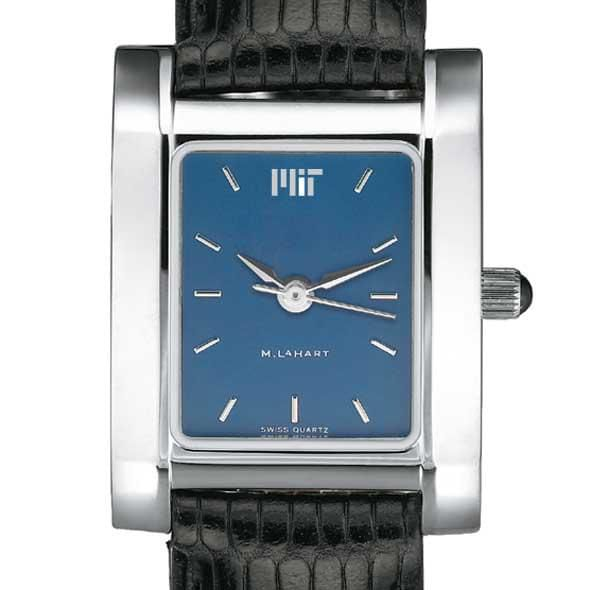 MIT Women's Blue Quad Watch with Leather Strap