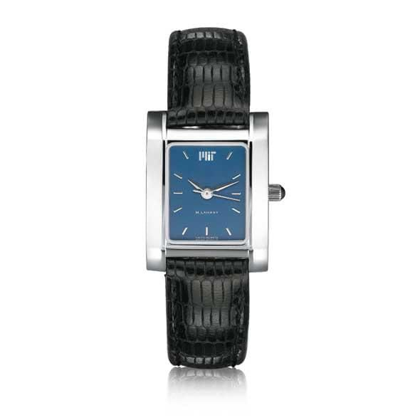 MIT Women's Blue Quad Watch with Leather Strap - Image 2