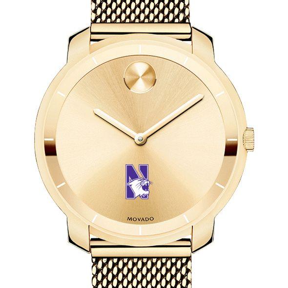 Northwestern University Women's Movado Gold Bold 36