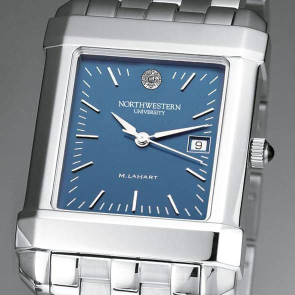 Northwestern Men's Blue Quad Watch with Bracelet