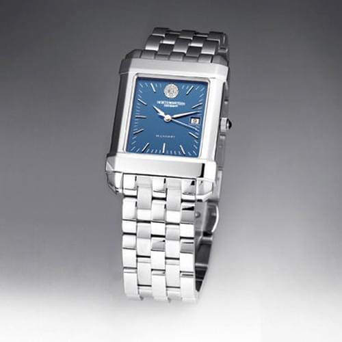 Northwestern Men's Blue Quad Watch with Bracelet - Image 2