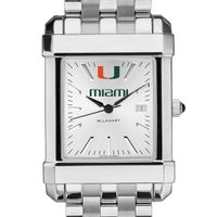 Miami Men's Collegiate Watch w/ Bracelet