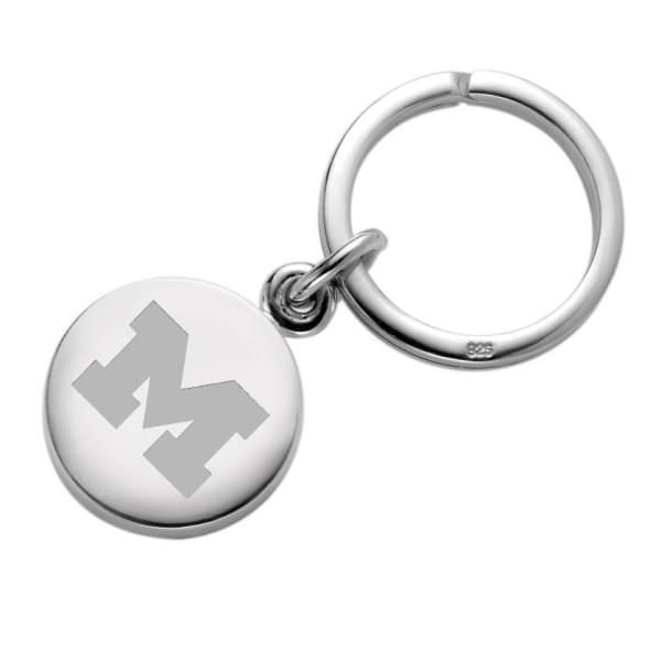 Michigan Sterling Silver Insignia Key Ring