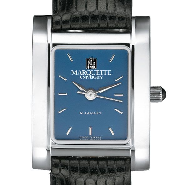 Marquette Women's Blue Quad Watch with Leather Strap - Image 1