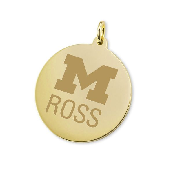 Michigan Ross 18K Gold Charm - Image 1