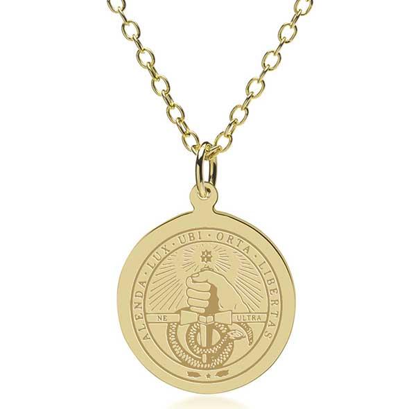 Davidson College 14K Gold Pendant & Chain