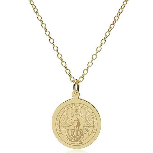 Davidson College 14K Gold Pendant & Chain - Image 2