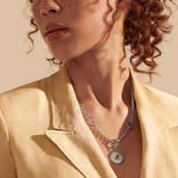 Virginia Tech Amulet Necklace by John Hardy with Classic Chain and Three Connectors