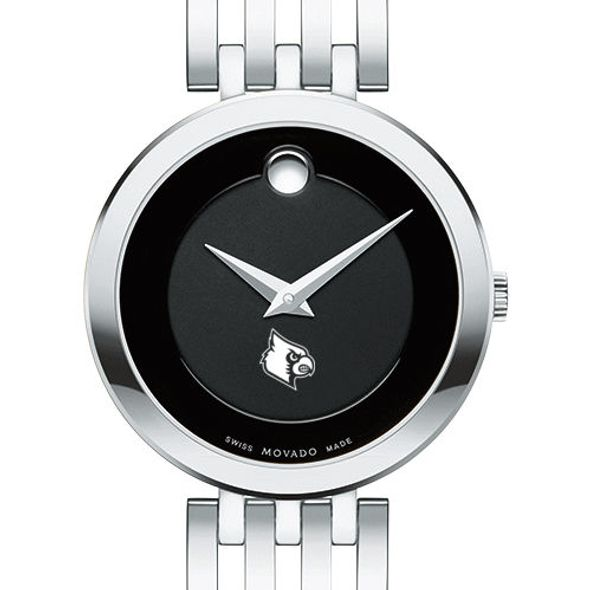 University of Louisville Women's Movado Esparanza Stainless Steel Museum with Bracelet