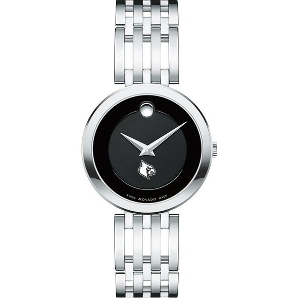 University of Louisville Women's Movado Esparanza Stainless Steel Museum with Bracelet - Image 2