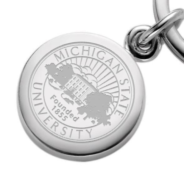 Michigan State Sterling Silver Insignia Key Ring - Image 2
