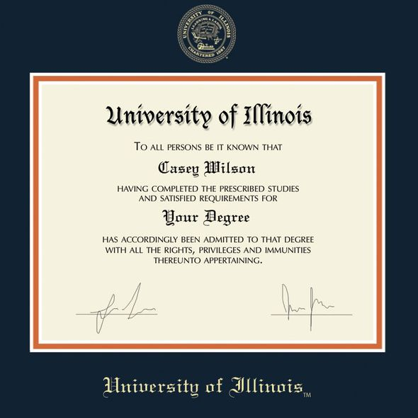 University of Illinois Diploma Frame, the Fidelitas - Image 2