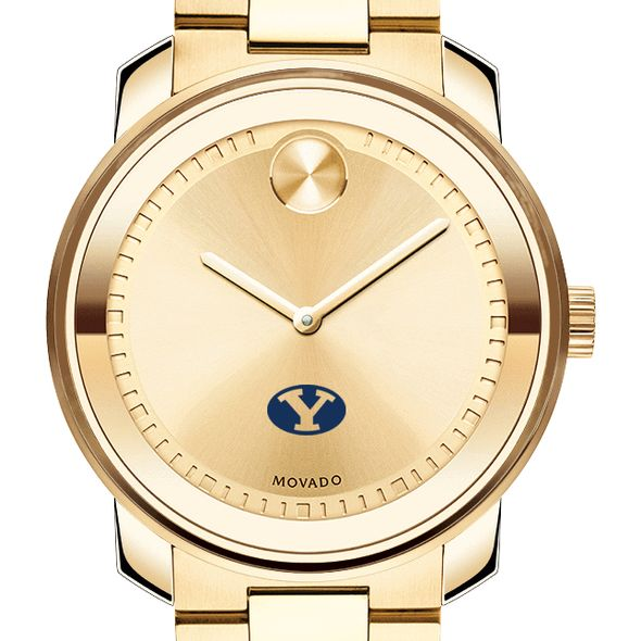 Brigham Young University Men's Movado Gold Bold