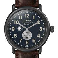 Loyola Shinola Watch, The Runwell 47mm Midnight Blue Dial