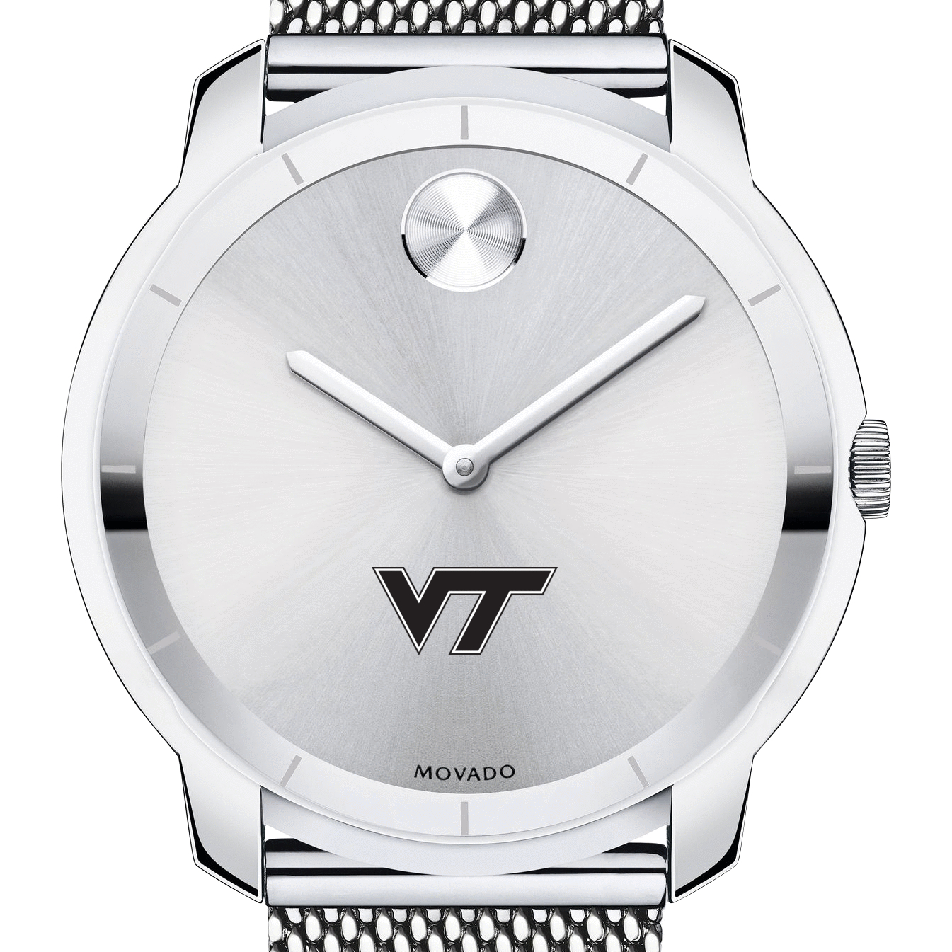 Virginia Tech Men's Movado Stainless Bold 44