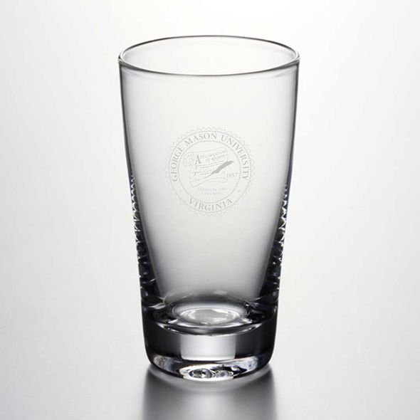 George Mason University Ascutney Pint Glass by Simon Pearce