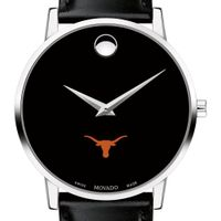 Texas Men's Movado Museum with Leather Strap