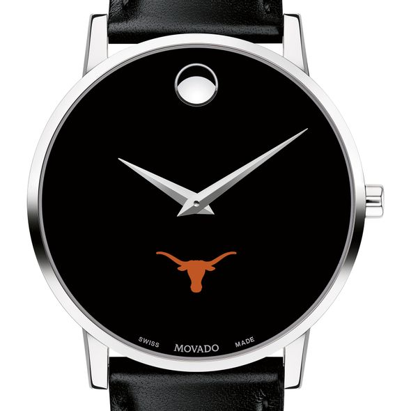 University of Texas Men's Movado Museum with Leather Strap