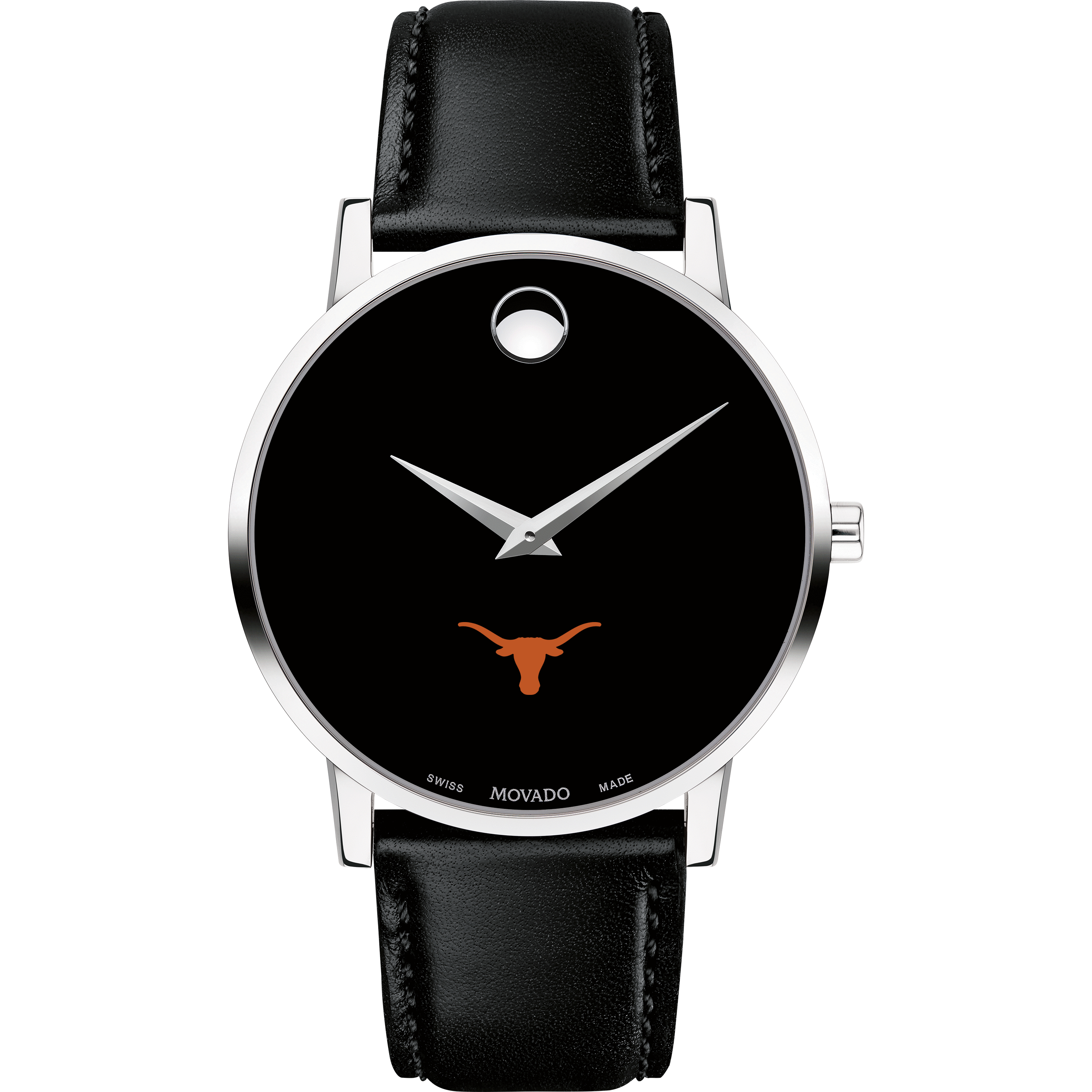 Texas Men's Movado Museum with Leather Strap - Image 2