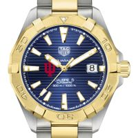 Indiana Men's TAG Heuer Automatic Two-Tone Aquaracer with Blue Dial