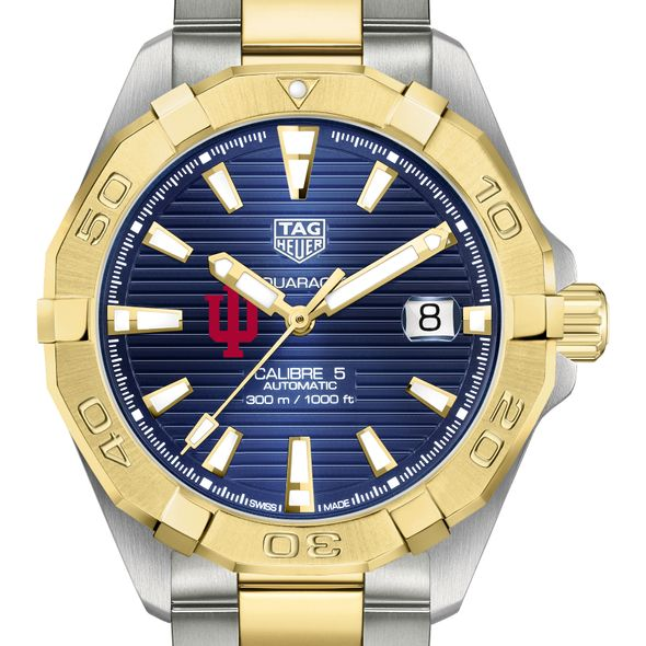 Indiana Men's TAG Heuer Automatic Two-Tone Aquaracer with Blue Dial - Image 1