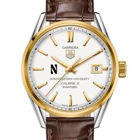 Northwestern Men's TAG Heuer Two-Tone Carrera with Strap