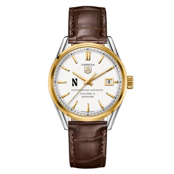 Northwestern Men's TAG Heuer Two-Tone Carrera with Strap - Image 2