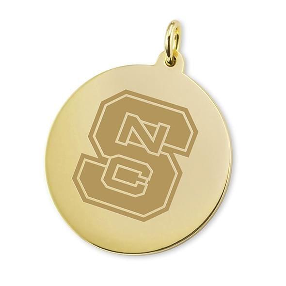 NC State 14K Gold Charm