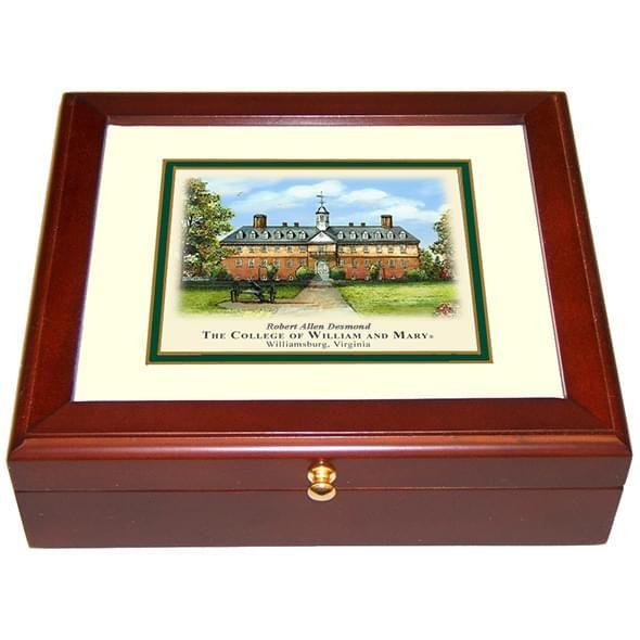 William & Mary Eglomise Mini Desk Box