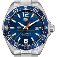 George Washington University Men's TAG Heuer Formula 1 with Blue Dial & Bezel