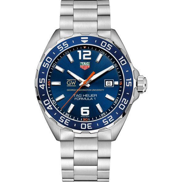 George Washington University Men's TAG Heuer Formula 1 with Blue Dial & Bezel - Image 2