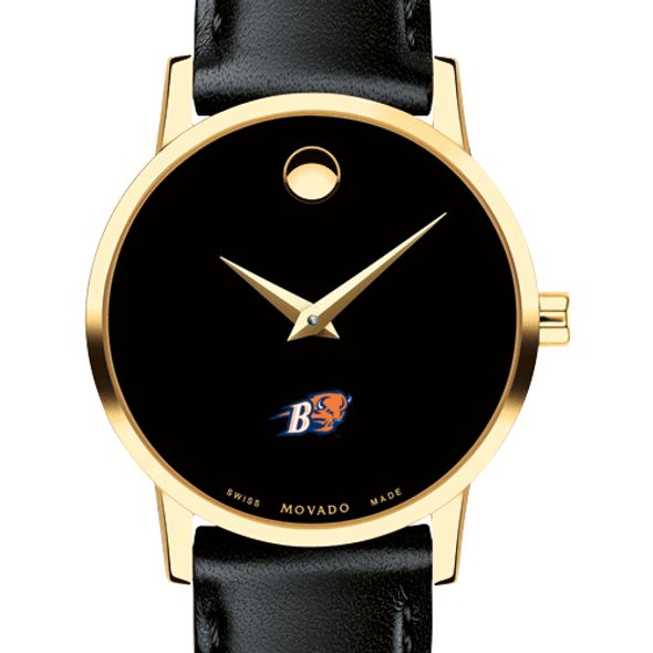 Bucknell University Women's Movado Gold Museum Classic Leather