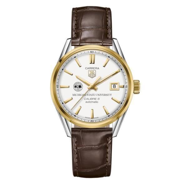 Michigan State Men's TAG Heuer Two-Tone Carrera with Strap - Image 2