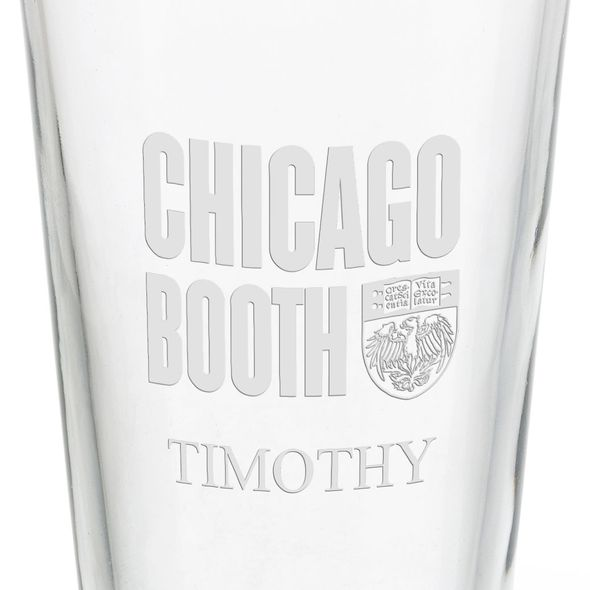 Chicago Booth 16 oz Pint Glass - Image 3