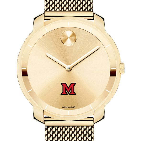 Miami University Women's Movado Gold Bold 36