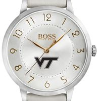 Virginia Tech Women's BOSS White Leather from M.LaHart