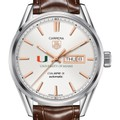 University of Miami Men's TAG Heuer Day/Date Carrera with Silver Dial & Strap - Image 1