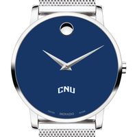 Christopher Newport University Men's Movado Museum with Blue Dial & Mesh Bracelet