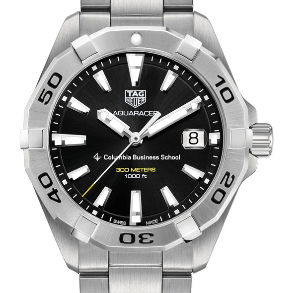 Columbia Business Men's TAG Heuer Steel Aquaracer with Black Dial