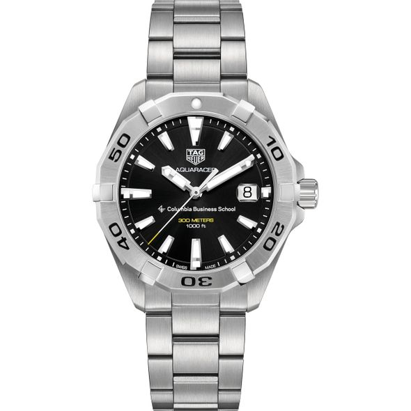 Columbia Business Men's TAG Heuer Steel Aquaracer with Black Dial - Image 2