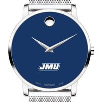 James Madison University Men's Movado Museum with Blue Dial & Mesh Bracelet