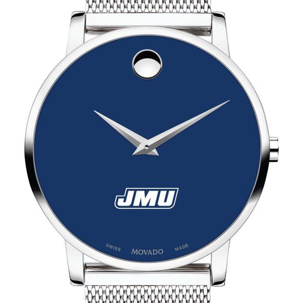 James Madison University Men's Movado Museum with Blue Dial & Mesh Bracelet