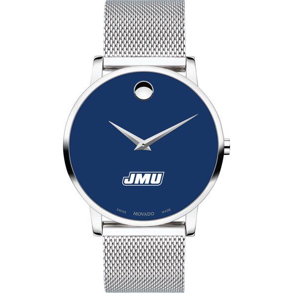 James Madison University Men's Movado Museum with Blue Dial & Mesh Bracelet - Image 2
