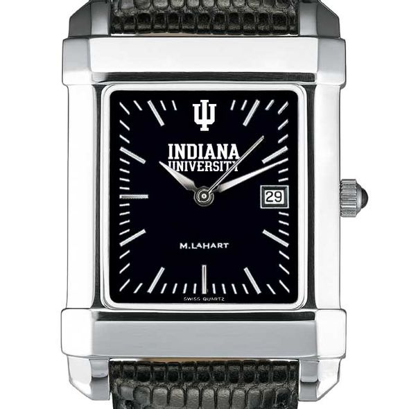 Indiana University Men's Black Quad with Leather